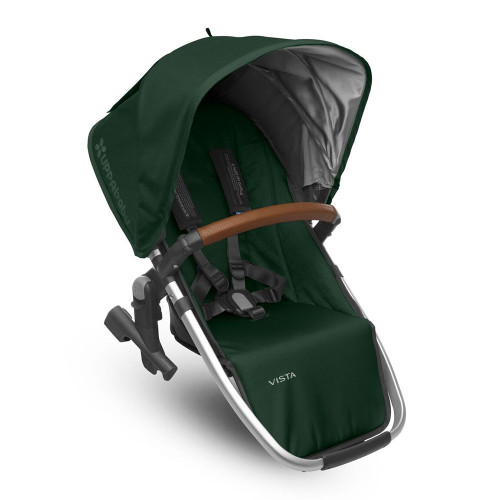 UPPABaby Vista RumbleSeat 2017 - Austin/Hunter (Green with Silver Frame and Leather)