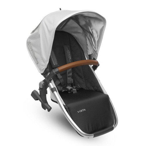 UPPABaby Vista Rumbleseat 2017 - Loic (White with Silver Frame and Leather)