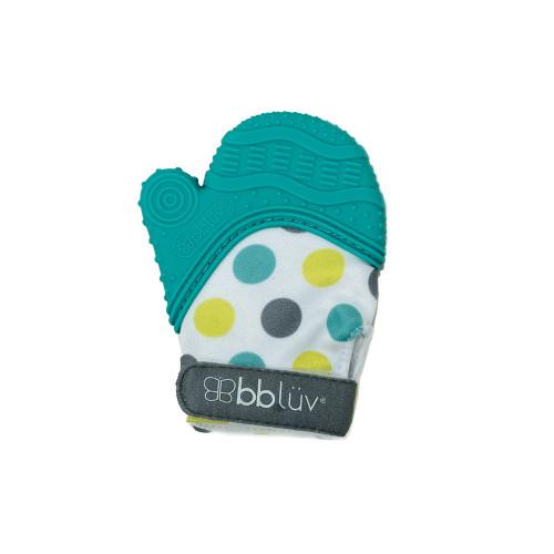 BBLUV Glv 2-in-1 Baby Teething Mitten - Aqua