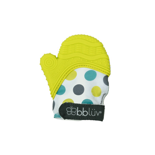 BBLUV Glv 2-in-1 Baby Teething Mitten - Lime