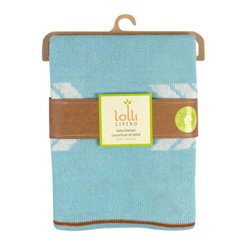 Lolli Living Knitted Cotton Blanket - Arrows