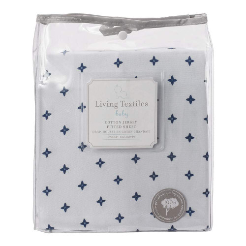 Living Textiles Baby Jersey Fitted Sheet - Starry Night