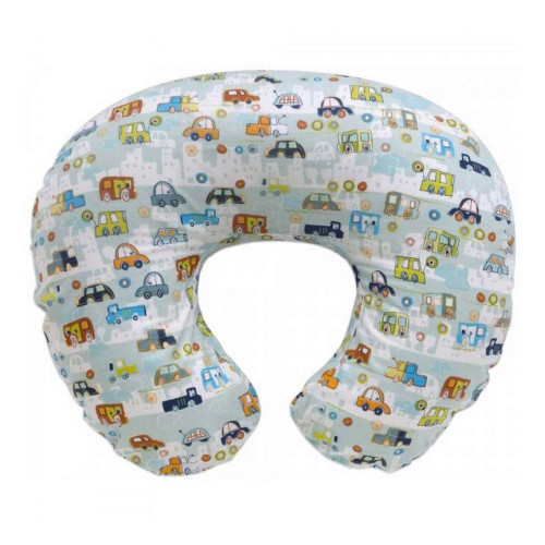 Kidiway Nursing Pillow and Positioner with Bobby Slipcover - Crazy Car