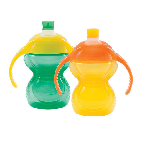 Munchkin Click Lock 7oz Trainer Cup 2-Pack - Teal/Yellow