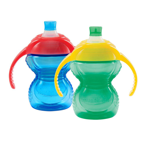 Munchkin Click Lock 7oz Trainer Cup 2-Pack - Blue/Green