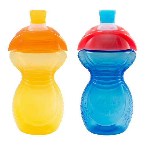 Munchkin Click Lock 9oz Sippy Cup 2-Pack - Yellow/Blue