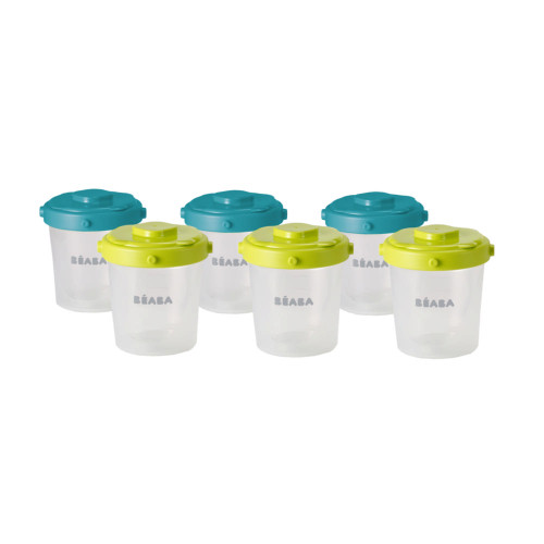 Beaba 7oz Clip Container Set of 6 - Peacock