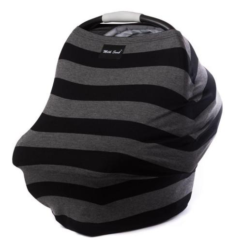 Milk Snob Cover - Bold Black & Grey Stripes