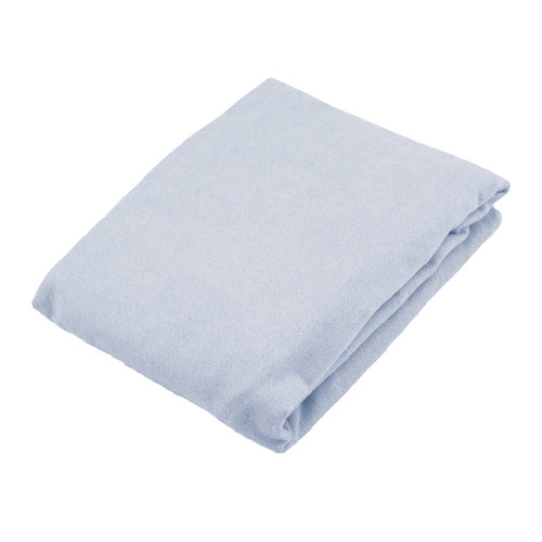 Kushies Flannel Fitted Bassinet Sheet - Blue