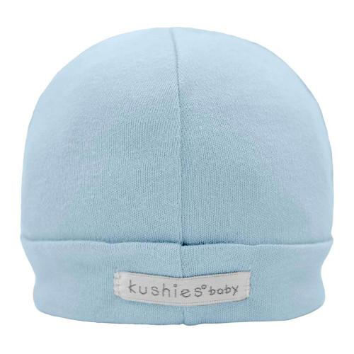 Kushies Baby Cap Cotton Interlock, 1-3 Months - Blue