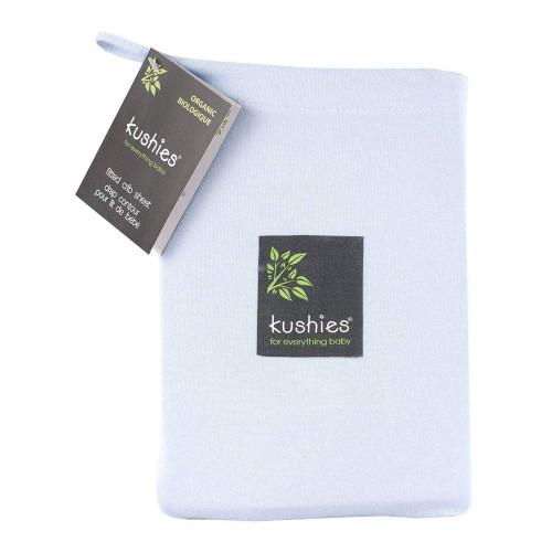 Kushies Organic Jersey Fitted Crib Sheet - Blue