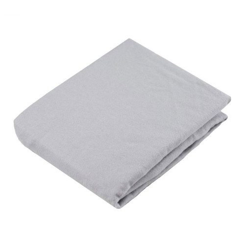 Kushies Flannel Fitted Change Pad Sheet with Slits - Grey