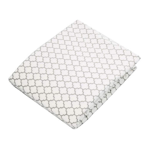 Kushies Flannel Playpen Fitted Sheet - Grey Ornament