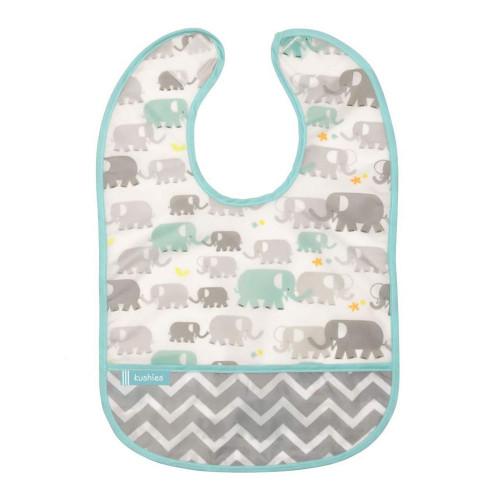 Kushies Cleanbib Waterproof, 6-12 Months - Elephant