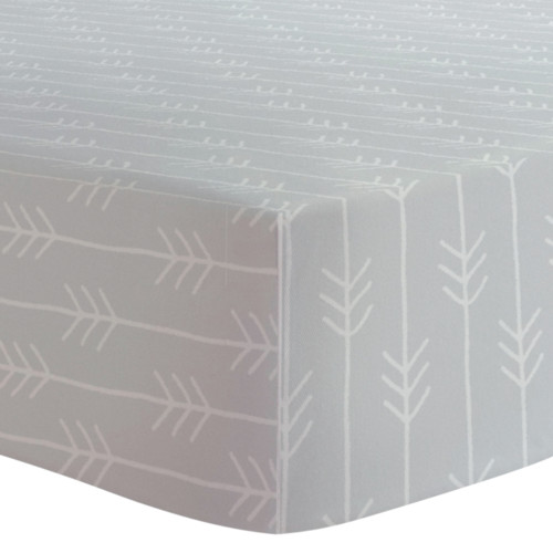 Kushies Flannel Crib Sheet - One Direction Grey