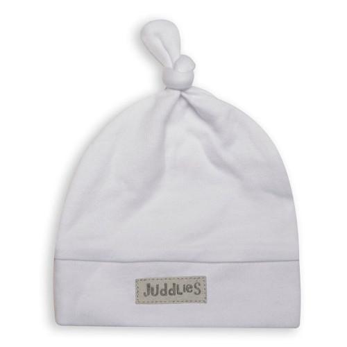 Juddlies City Cap, Newborn - White/Grey