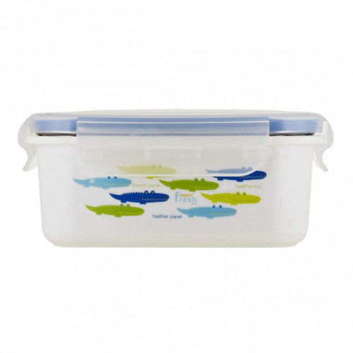 Innobaby Keepin' Fresh Double Insulated Stainless Steel 15oz Lunchbox - Green Alligators