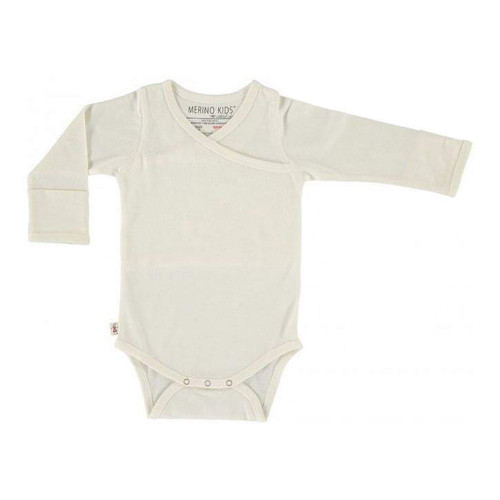 Merino Cocooi Long Sleeved Bodysuit - Cream (0-3 Months)