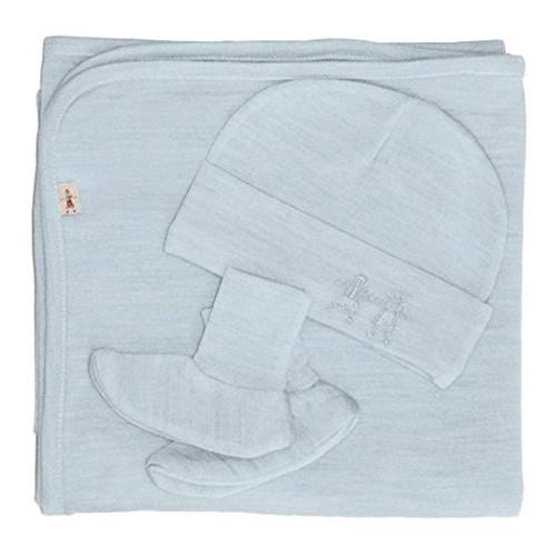 Merino Cocooi Blanket, Bootie, & Hat Set - Turtledove (0-3 Months)