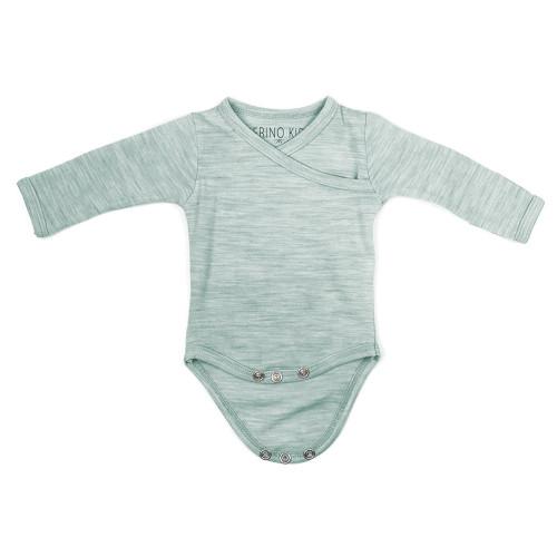 Merino Cocooi Long Sleeved Bodysuit - Mint (0-3 Months)