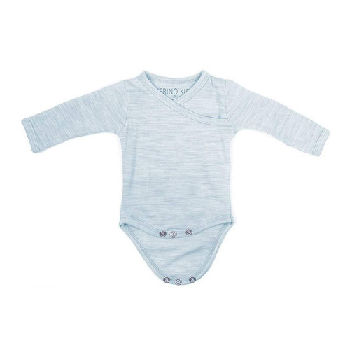 Merino Cocooi Long Sleeved Bodysuit - Turtledove (0-3 Months)