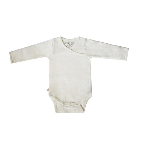 Merino Cocooi Long Sleeved Bodysuit - Cream (NB)