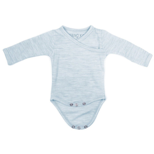 Merino Cocooi Long Sleeved Bodysuit - Turtledove (NB)