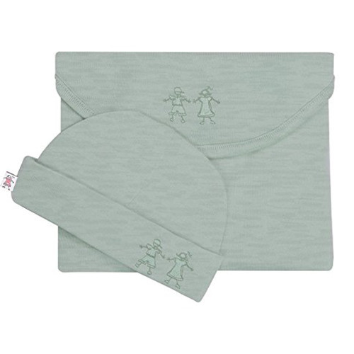 Merino Cocooi Swaddle & Hat Set - Mint (0-3 Months)