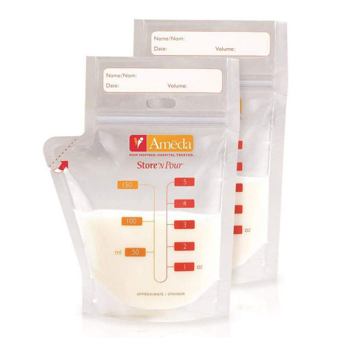 Ameda Store'N Pour Breast Milk Storage Bag 20-Count