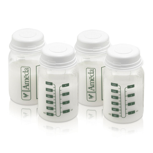 Ameda Breast Milk Storage Bottles 4-Pack