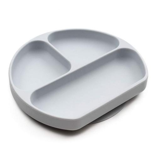 Bumkins Grip Dish - Silicone Grey