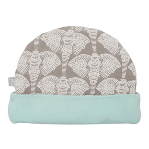 Finn + Emma Organic Cotton Hat - Elephant Safari (0-3M)