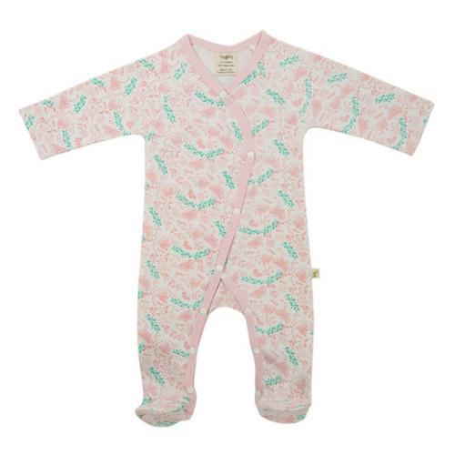 Tiny Twig Kimono Growsuit - Butterfly Garden (3-6 Months)