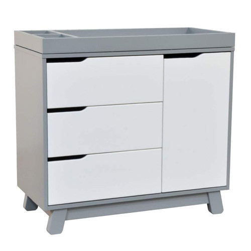 Babyletto Hudson 3-Drawer Changer Dresser - Grey & White