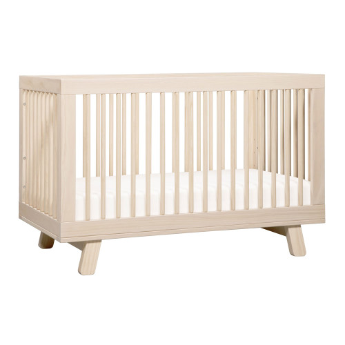 Babyletto Hudson 3-in-1 Convertible Crib with Toddler Bed Conversion Kit - Washed Natural