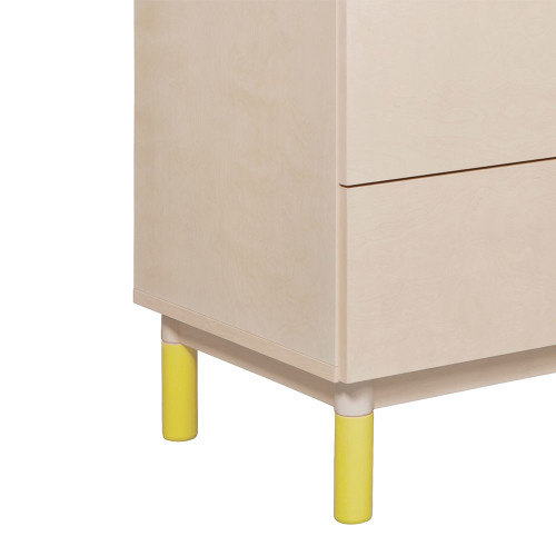 Babyletto Gelato Crib and Dresser Feet 4-Pack - Spring Yellow Finish