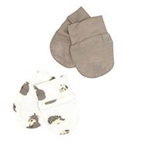 Kyte Bamboo 2-Pack Scratch Mittens - Clay & Woodland