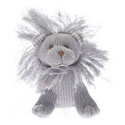Beba Bean Knit Rattle - Ivory Lion