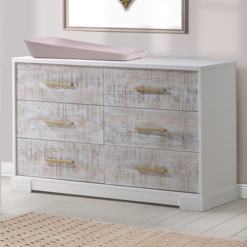 Nest Vibe Double Dresser - White & White Bark