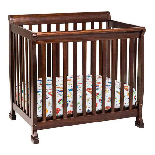 DaVinci Kalani 2-in-1 Mini Crib and Twin Bed - Espresso