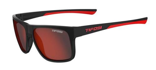 Tifosi Sunglasses, Swick, Satin Black/Crimson Smoke Red