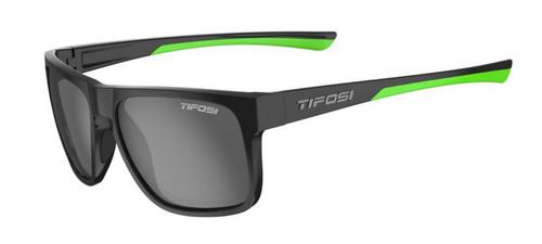 Tifosi Sunglasses, Swick, Satin Black/Neon Smoke Polarized