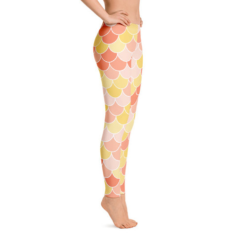 Fish Scale Leggings - Strawberry Blonde