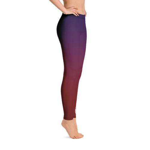 Leggings - Purple/Red Fade