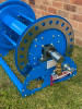 """Inlet end view of 20-30m 1"""" hose reel."""