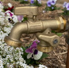 Dual Outlet Brass Tap