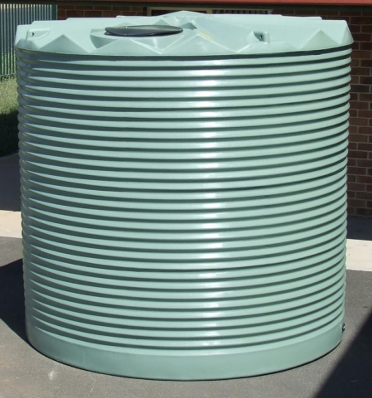 7,000 Litre Round Poly Tank - Corrugated Profile