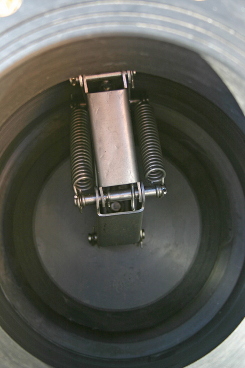 """10"""" Poly Foot Valve with table D flange outlet and s/steel mechanism 75 - 400 L/Sec"""