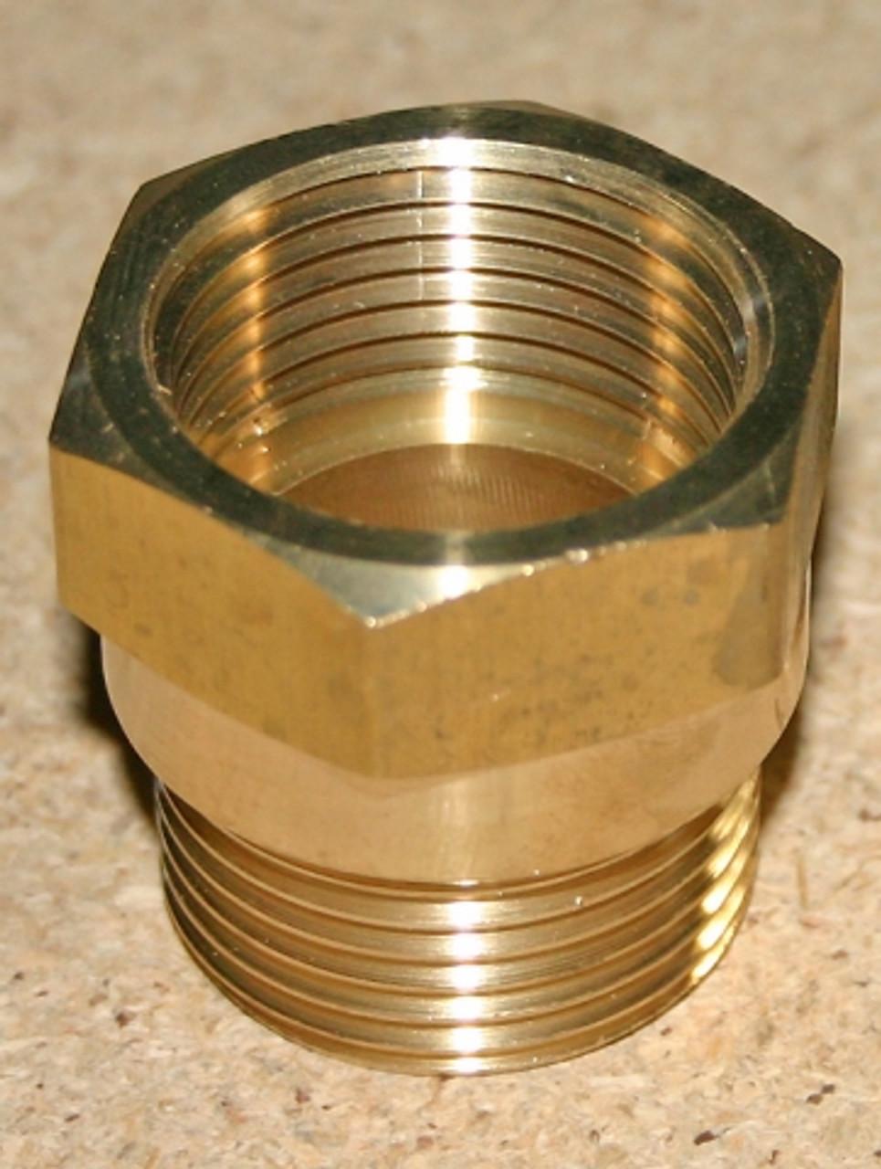 """Adaptor, 2"""" Male BSPT x 2"""" Female NPT  in Brass"""