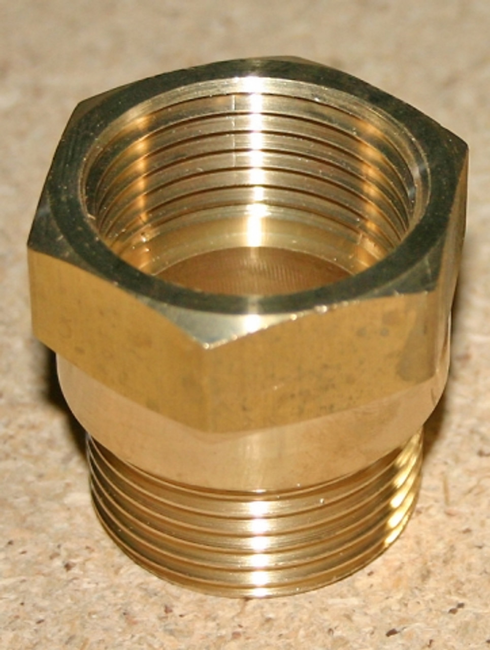 """Adaptor, 1 1/4"""" Male NPT x 1 1/4"""" Female BSPP in Brass"""